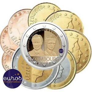 2-euros-commemorative-LUXEMBOURG-2019-Charlotte-serie-1-cent-a-2-euros-UNC