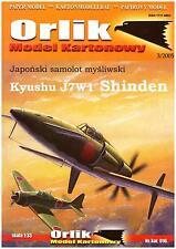 Orlik 016 - Kartonmodellbaubogen Kyushu J7W1 Shinden