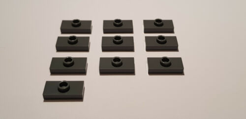 LEGO® 10 x 15573 Platte 1 x 2 neu dunkelgrau 6092572 1 Noppe mittig C01