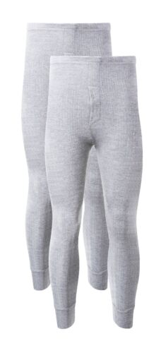 Marl Grey Pack Of 2 Men/'s Thermal Trousers Long Johns Underwear Thermals