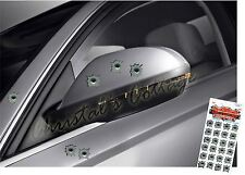 24 Small Bullet Holes Vinyl Car Helmet Removable Stickers 2cm Diameter