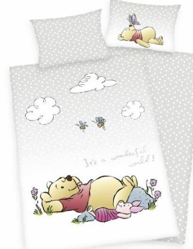 Flanell Winnie Pooh Disney Babybettwäsche 135x100