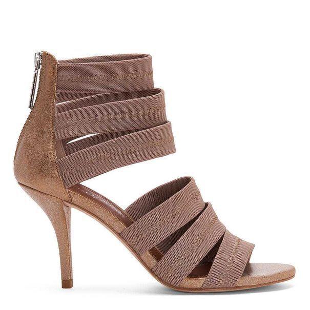 New DONALD J PLINER  228 Lt Bronze GIGEE Heeled Sandals 8.5 M NIB