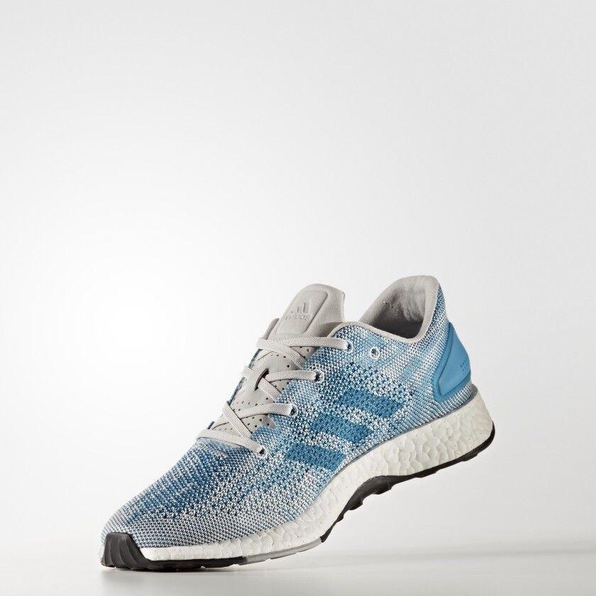 Adidas PureBoost DPR- Men's Size 9.5 Grey Grey Lightbluee, CG4097