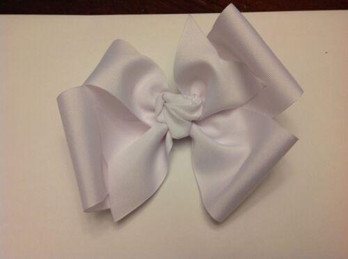 3 Inch Wide Boutique Pinwheel Hair Bow White Clip Toddler Homemade Girl