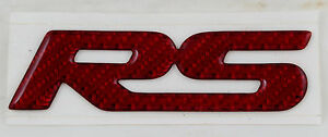 93-02 Camaro SS Z28 Red Carbon Fiber Rear Bowtie Emblem 01011374 CLEARANCE