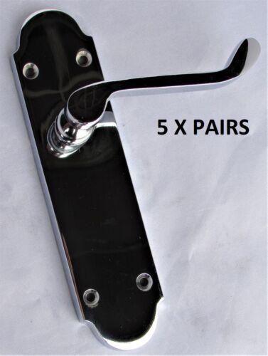 Contemporary Fresh Epsom Internal Door Handles Chrome Latch Handles Door Sets D7