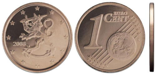 FINLAND SET of uncirculated Euro coins 2011-1 cent 2 cent 5 cent