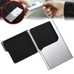 Visitenkartenetui Edelstahl Visitenkarten Kreditkartenetui NEU Brieftasche I8C5