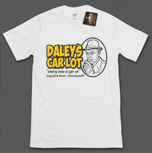 Minder TV Show Inspired Arthur Daley/'s Car Lot T-shirt Retro 80/'s TV Show NEW