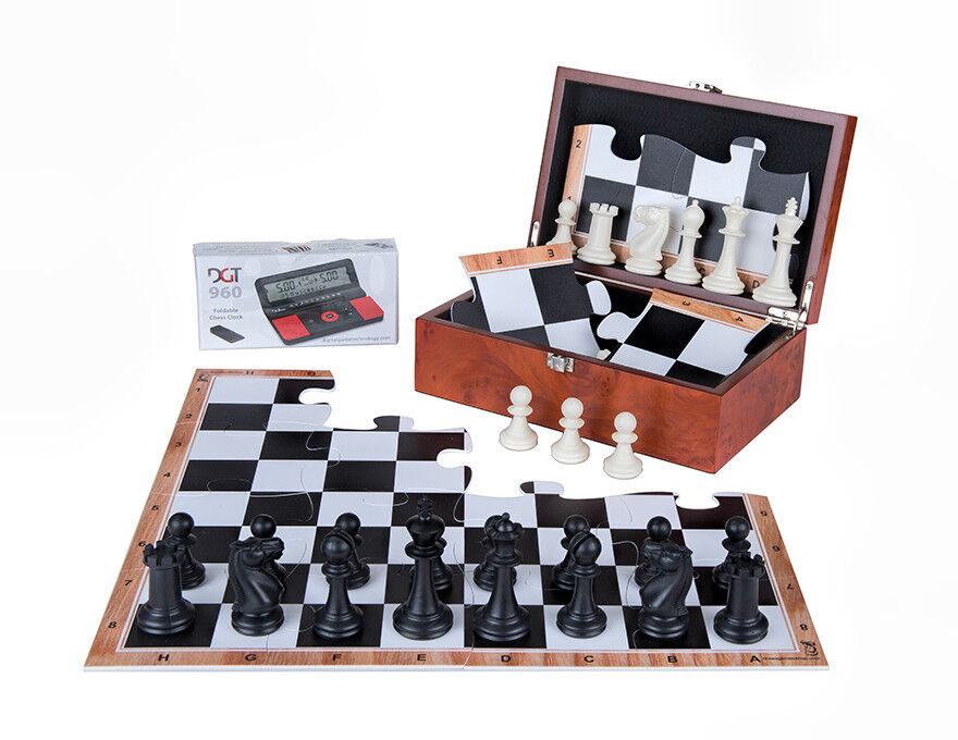 JigChess Chess Set - Chess board, Chess pieces, Chess timer DGT 960 - all in BOX