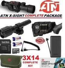 ATN X Sight II 2 HD IR Night Vision 3-14 Rifle Scope Predator Complete Kit