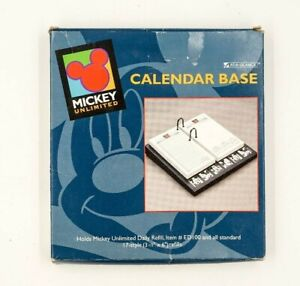 NEW-in-Box-Walt-Disney-MICKEY-MOUSE-UNLIMITED-CALENDAR-BASE-refillable-Rare-90s