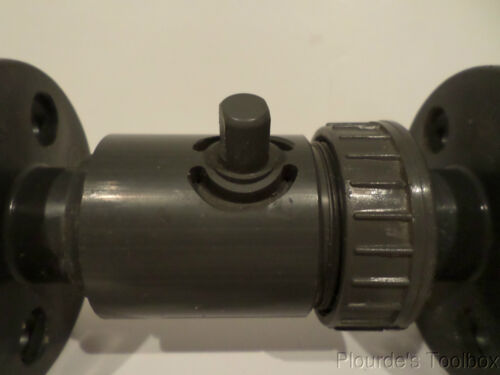"""NSF Details about  /Unused Hayward 2-Piece PVC 1//2/"""" Flange End Full-Flo Ball Valve"""