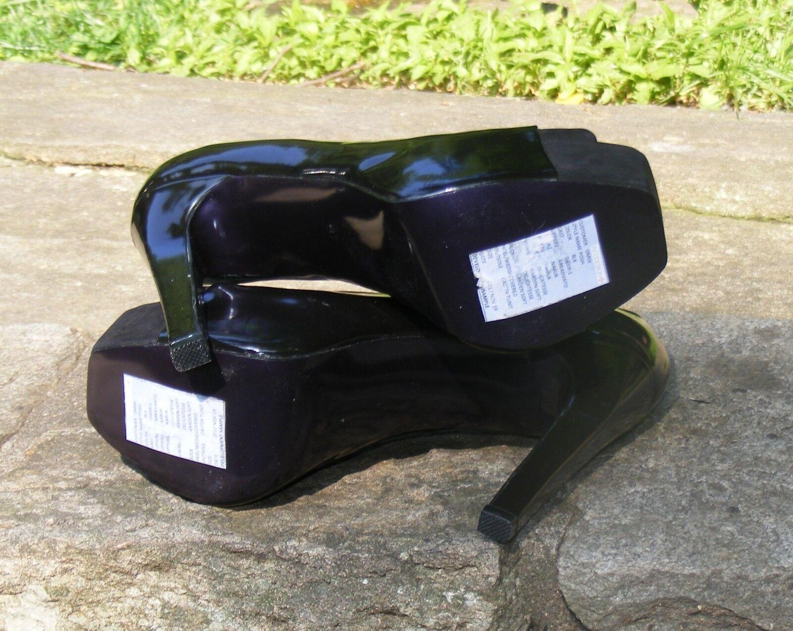 DONALD J PLINER PLATFORM HEELS, HEELS, HEELS, Black Brush Leather Nubuck Open Toe High Heel 37 e459c9