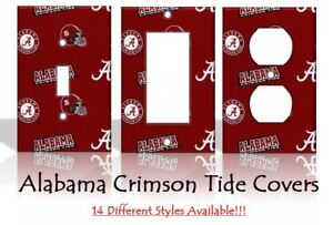 Image Is Loading Alabama Crimson Tide 2 Light Switch Covers Football