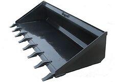 Heavy Duty Long Bottom Dirt Bucket With Teeth Skidsteer Hookup Free Shipping