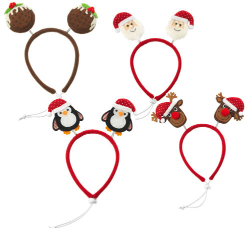 Party Head Bopper Dog Headband Christmas Santa Rudolph or Pudding