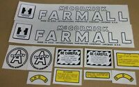 Farmall Super A culti-vision Decal Set. All Decals On Tractor.