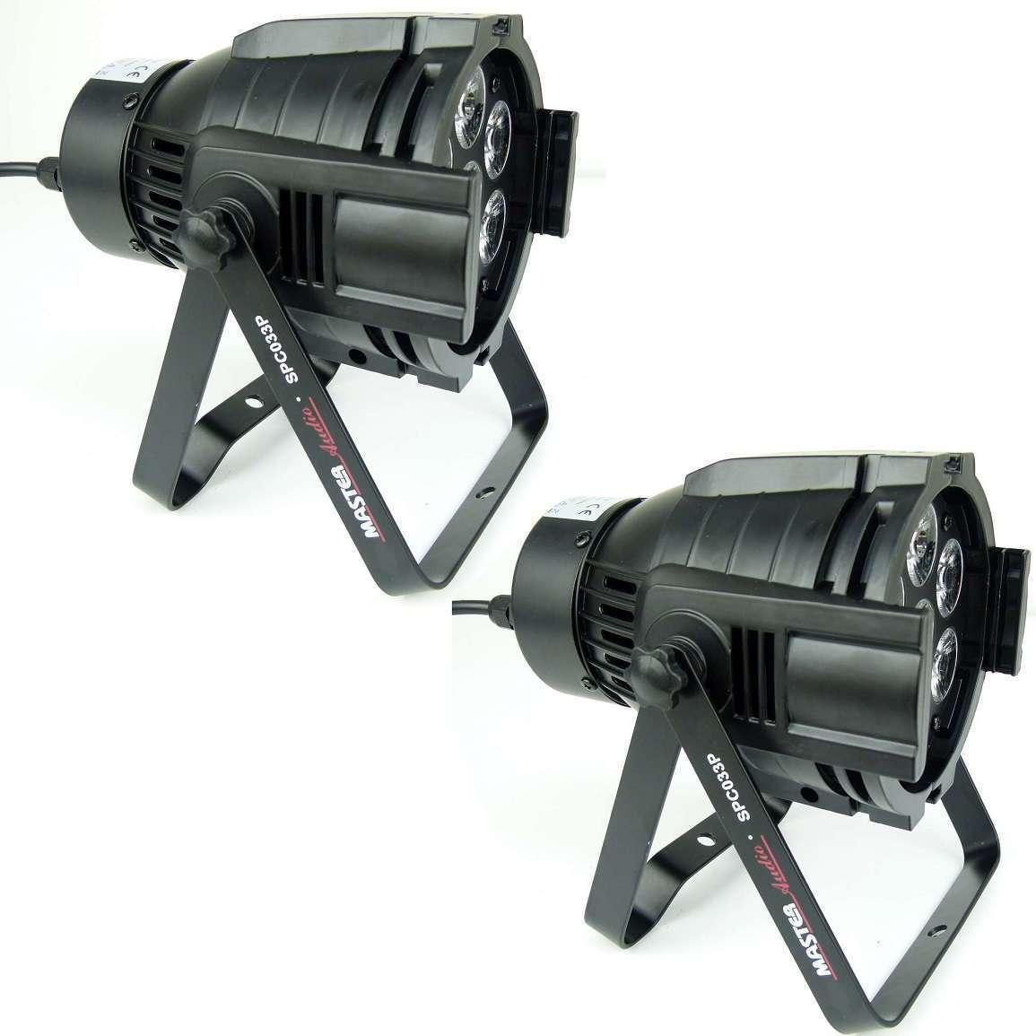 2 x DEL DMX 7 x 8 W RGBW Spotlight Phares Floor SPOT COULEUR DISCO
