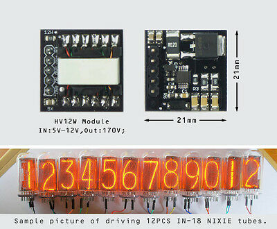 NEW-[Type C]-HV12W-170Vout-HIGH VOLTAGE NIXIE POWER SUPPLY MODULE-NIXIE TUBE ERA