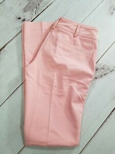 Earnest Nwt Ny&c 7th Ave Pink Straight Leg Signature Fit Pant Size 0 Inseam 31 Ret $55