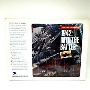 World War II Remembered 1942: Into the Battle WWII USPS Book with Stamps