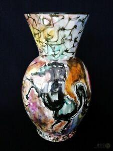 Vintage-1950s-San-Marino-Marinova-Porcelain-Horse-Vase-FREE-Delivery-UK