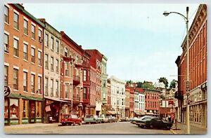 Galena-Illinois-Main-Street-From-Green-Ben-Franklin-Store-Schlitz-Beer-1960-Cars