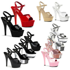 38d61fde7ad Image is loading PLEASER-Kiss-209-Sexy-Ankle-Strap-Platform-Sandal-