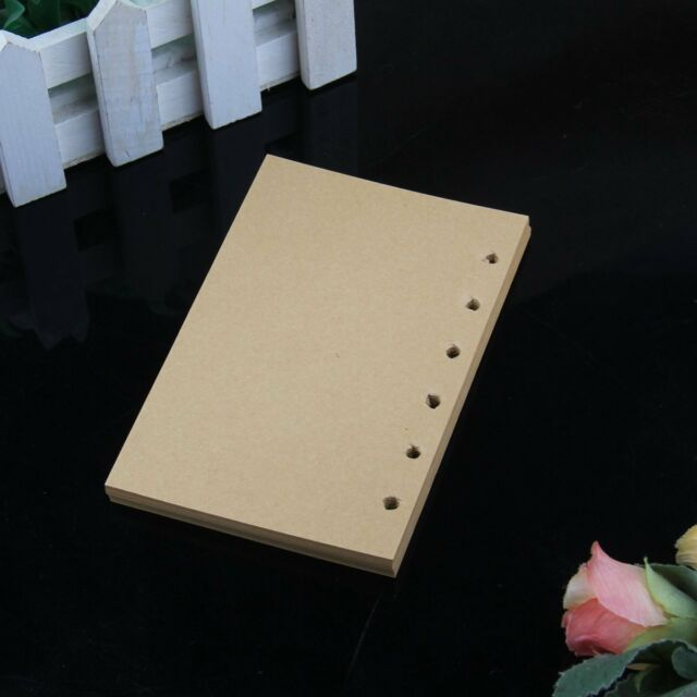 170 Pages 13*8.5cm Lined Craft Paper Loose Leaf Binder Notebook Diary Writing