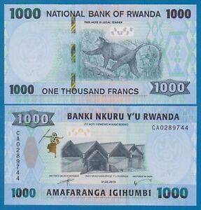 RWANDA 1,000 1000 FRANCS 2004 MONKEY P 31 UNC