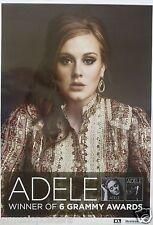 """ADELE """"21 & ALBERT HALL - WINNER OF 6 GRAMMY AWARDS"""" PROMO POSTER FROM THAILAND"""
