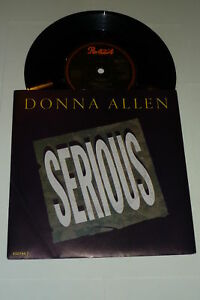DONNA-ALLEN-Serious-1986-UK-2-track-7-034-vinyl-single