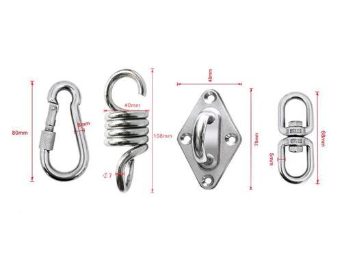 1Set Hammock Swing Chair Hanging Seat Swivel Hook Accessory Stainless Steel Kit
