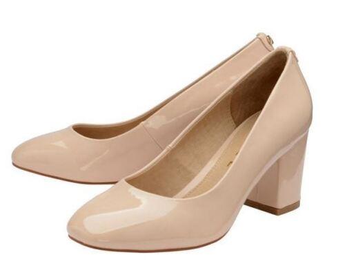 Uk scarpe Leather Evening Nude Court Patent Block 4 Toe Heel Ravel 'weston' HfUnqRFRa