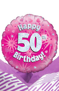 Image Is Loading 50th Birthday Pink Balloon In A Box Gift