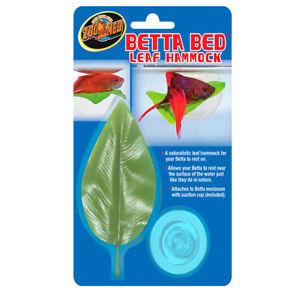 Zoo-Med-Floating-Betta-Bed-Leaf-Hammock-Fighting-Fish-Aqarium-Decoration