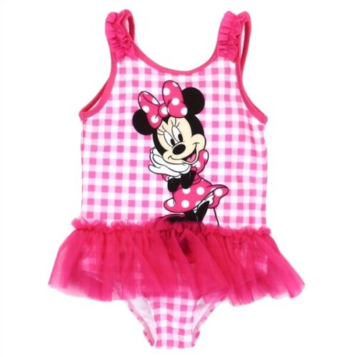 DISNEY Minnie Mouse Toddler Girls SUMMER FUN Beach Bathing Suit Swimsuit UPF 50+