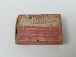 Antique-Vintage-Casco-Laxative-Analgesic-Empty-Box-Packaging