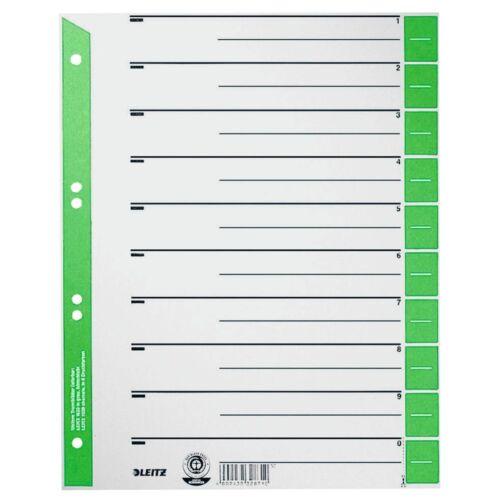 LEITZ Trennblätter 1652 A4 Überbreite grün 25er Pack