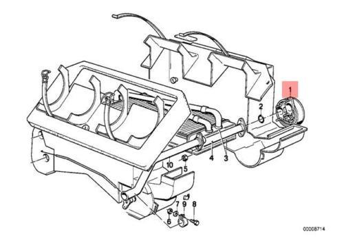 Genuine BMW E12 E24 Coupe Sedan Heater Radiator WATER Valve OEM 64111359634