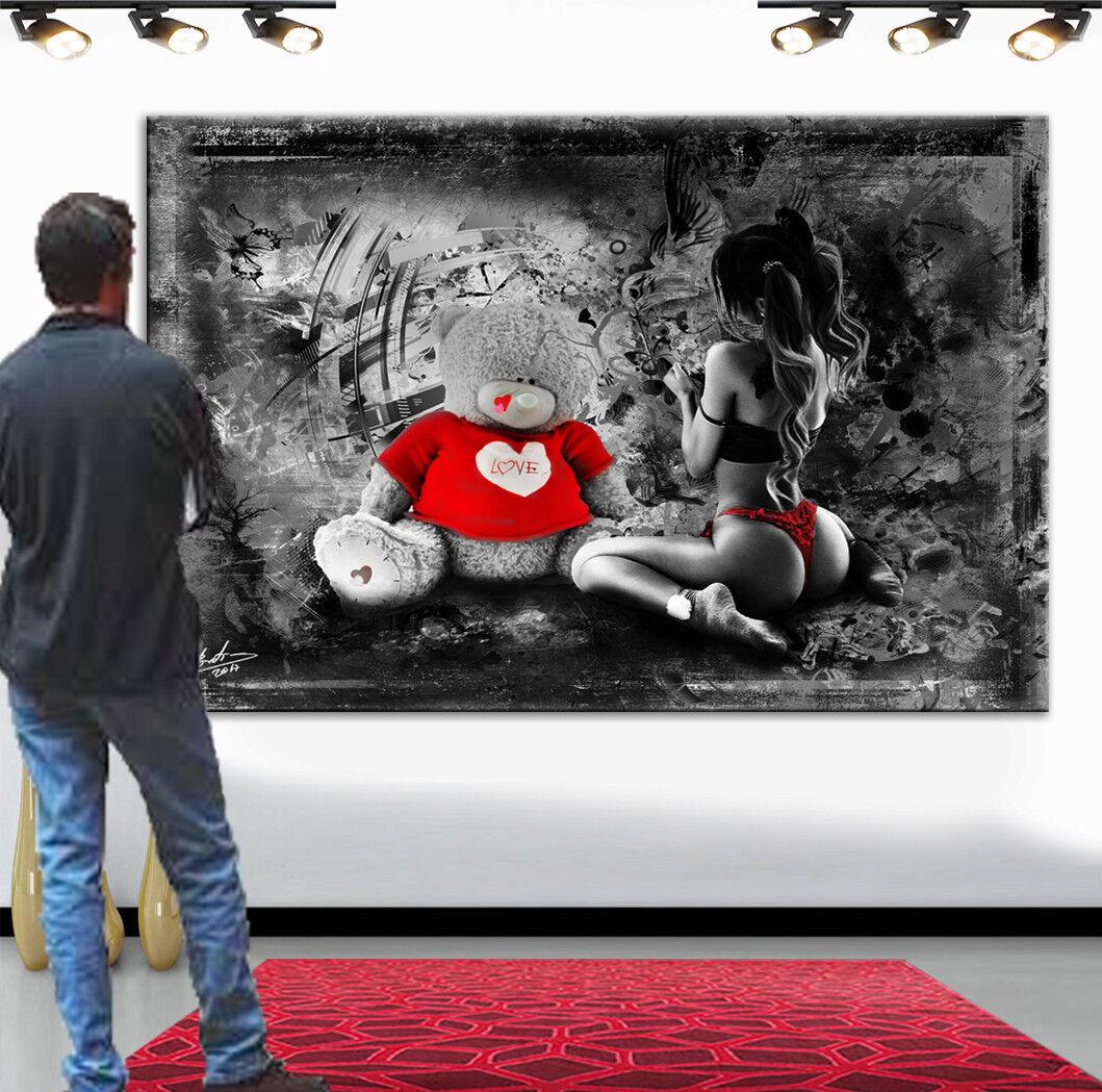 Wandbilder Frau Akt Erotik Bilder auf Leinwand Kunst Deko Abstrakt  xxl 2357A