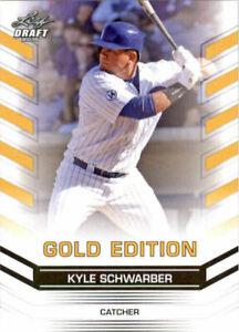 034-Raro-034-Kyle-Schwarber-2015-Hoja-Draft-034-Oro-Edicion-034-Carta-Rookie