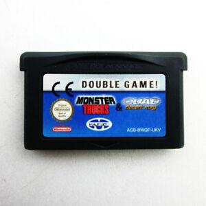 Gameboy-Advance-GBA-Jeu-Double-Jeu-Monster-Camions-et-Quad-Desert-Fury