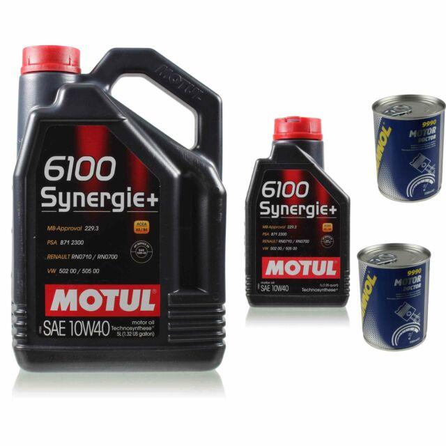 6L Aceite de Motor Motul 6100 Sinergia + 10W-40 2x mannol Doctor Aditivo