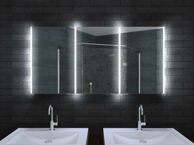 Alu Spiegelschrank Bad Badezimmer Badezimmerspiegelschrank Led Licht