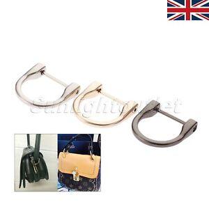 Image Is Loading 2x Detachable Non Welded D Rings Horseshoe Handbag