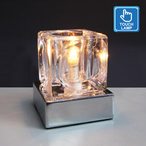 Dimmable touch table light glass ice cube bedside study office image is loading dimmable touch table light glass ice cube bedside mozeypictures Gallery