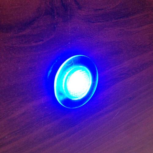 # 4 PCS MARINE BOAT LED LIVEWELL ROUND BUTTON BLUE COURTESY LIGHT OEM WATERPROOF